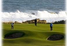 The 9th green at Royal Dornoch golf club