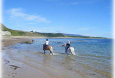 Pony trekkers on the beach