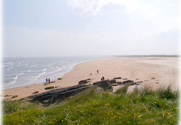 Dornoch beach on a blustery day