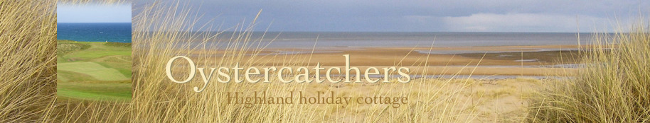 Oystercatchers highland holiday cottage title with beach view and golf course
