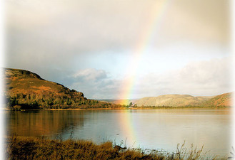 Rainbow at the west end of Loch Fleet